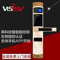 visisv威萨不锈钢指纹锁家用防盗门锁智能锁指纹感应密码锁