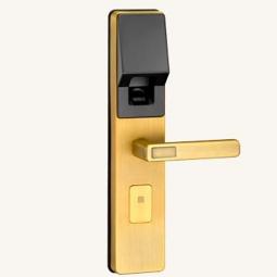 琪达五金名门静音门锁指纹锁EZ0808黄古铜
