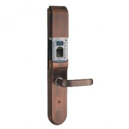 琪达五金名门静音门锁指纹锁EZ0202A红古铜