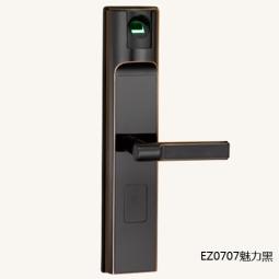琪达五金名门静音门锁指纹锁EZ0707魅力黑