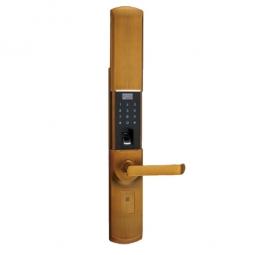 琪达五金名门静音门锁指纹锁EZ0606A黄古铜