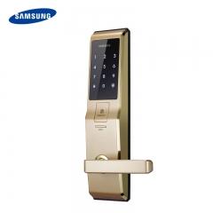 三星指纹锁电子锁密码锁家用智能锁防盗门锁刷卡感应锁H705 黑色