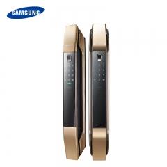 三星指纹锁电子锁密码锁家用智能锁防盗门锁刷卡感应锁P808 香槟金