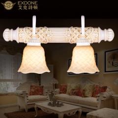 大发灯饰 艾克诗顿欧式壁灯客厅卧室过道灯镜前灯简约田园风格壁灯 WL0106 2头