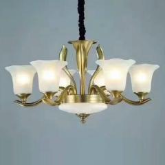 大发灯饰 吊灯美式铜灯客厅灯简约餐厅 6头 6头