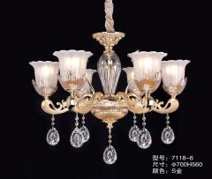 大发灯饰  欧式水晶吊灯奢华客厅 6头