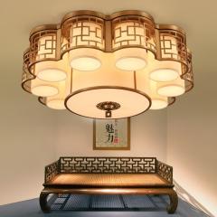 伟诚灯饰中式新感觉客厅豪华吸顶灯 SDL1028-8+1(9头)
