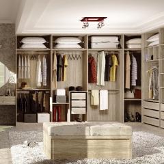 丹尼斯全屋定制实木衣柜卧室家具组合衣柜衣帽间移门DNS-3 图片色 材质很多(具体咨询客服) 尺寸与