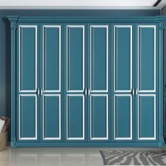 丹尼斯全屋定制实木衣柜卧室家具组合衣柜衣帽间移门DNS-4 图片色 材质很多(具体咨询客服) 尺寸与