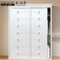 圣·达菲衣柜移门定制镶嵌浮雕系列LD-9034 法罗莎家居 图片色 可定制(吸塑、板材、软硬包) 多
