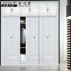 圣·达菲衣柜移门定制镶嵌浮雕系列LD-9022 法罗莎家居 图片色 可定制(吸塑、板材、软硬包) 多