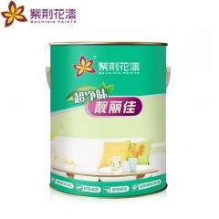紫荆花漆靓丽佳超净味墙面漆 白色环保涂料乳胶漆油漆内墙面漆 5L