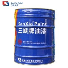 重庆三峡油漆附着力佳防锈耐久性好铁红醇酸底漆铁门金属漆工业漆C06-1 25kg