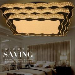 新款现代简约长方形线切割水晶灯 大气创意个性客厅餐厅吸顶灯 创格灯饰