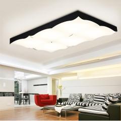 灯具客厅大气长方形调光LED吸顶灯饰 现代简约艺术的卧室书房灯 创格灯饰