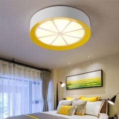 儿童房灯创意柠檬圆形led吸顶灯 卧室房间男女孩宝宝幼儿园护眼灯 创格灯饰