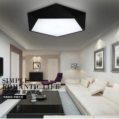 艺术LED铁艺几何吸顶灯现代简约创意大气卧室书房灯具 创格灯饰