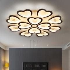 简约现代大气客厅吸顶灯温馨浪漫卧室led吸顶灯圆形创意灯具书房餐厅灯具 创格灯饰 12头