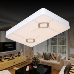 极美照明LED现代智能家居客厅灯无极叠加智能调光卧室餐厅灯K0271 长方 K0271