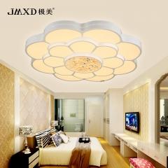 极美照明LED卧室灯客厅灯亚克力吸顶灯温馨圆形花瓣灯饰灯具K0120 小圆63*13厘米44瓦+遥控