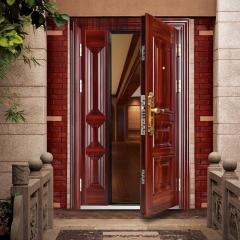 新多甲级防盗门进户门子母门入户安全门C级锁芯可定制房门室外门 鸿福临门 图片色 钢 2050x116