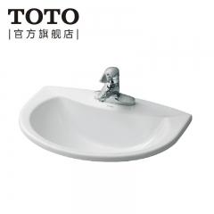 TOTO卫浴台上盆卫生间洗脸盆陶瓷面盆洗手盆LW571CB/CFB LW571CB/CFB