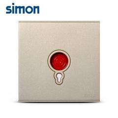 西蒙开关插座面板E6金色 报警开关紧急呼叫按钮老人家用紧急开关
