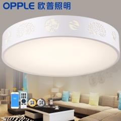 欧普照明LED圆形卧室灯 浪漫温馨 现代简约吸顶灯房间灯具兴发灯饰 LED遥控调光直径45cm 30
