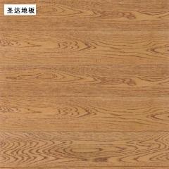 圣达地板栎木实木地板玫瑰红仿古拉丝地板 910*125/18