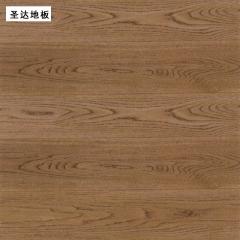 圣达地板栎木实木地板仿古书香门第地板 910*153/18