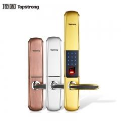 顶固 家用指纹锁 智能防盗密码锁 防盗入户门锁 电子门锁 五星五金 红古铜色