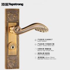 顶固正品 中式室内门锁卧室 青古铜门锁 中式仿古执手兰 五星五金 左内青古铜