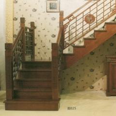 蜀胜木业艺术实木楼梯可定制025 图片色 实木(咨询客服) 多规格定制