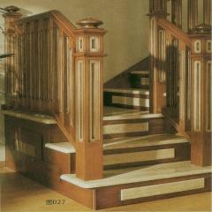 蜀胜木业艺术实木楼梯可定制027 图片色 实木(咨询客服) 多规格定制