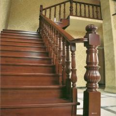 蜀胜木业艺术实木楼梯可定制030 图片色 实木(咨询客服) 多规格定制