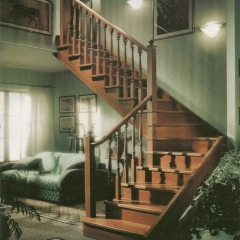 蜀胜木业艺术实木楼梯可定制037 图片色 实木(咨询客服) 多规格定制