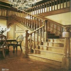 蜀胜木业艺术实木楼梯可定制038 图片色 实木(咨询客服) 多规格定制