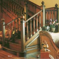 蜀胜木业艺术实木楼梯可定制039 图片色 实木(咨询客服) 多规格定制