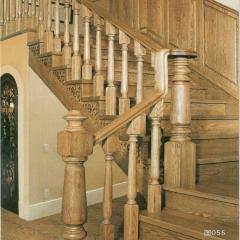 蜀胜木业艺术实木楼梯可定制055 图片色 实木(咨询客服) 多规格定制