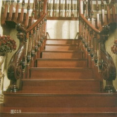 蜀胜木业艺术实木楼梯可定制019 图片色 实木(咨询客服) 多规格定制