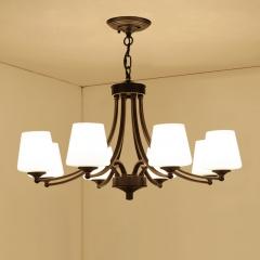 客厅吊灯美式乡村卧室灯欧式田园餐厅灯现代简欧书房灯具铁艺吊灯 3头吊顶