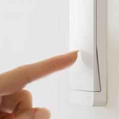 施耐德电气 二三插五孔插座墙壁电源开关插座面板10A 绎尚镜瓷白 绎尚镜瓷白