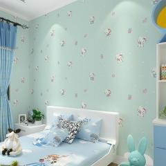 环保儿童房无纺布墙纸女孩公主房立体精压HelloKitty卡通卧室壁纸 加厚粉色