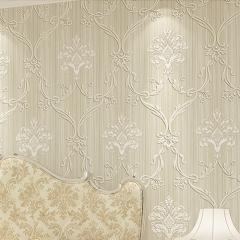 沃莱菲 立体皮革刺绣壁纸无纺布墙纸SL40601 卷(0.53*10 )