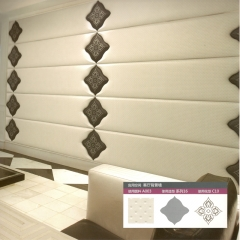 意德隆整合装饰 绣花软包 客厅背景墙 A003 定金