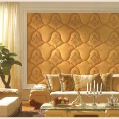 意德隆整合装饰   绣花软包   客厅沙发背景墙 C001 定金