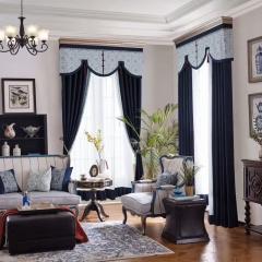 英阁来窗帘 现代欧式窗帘 成品定制均可 定金