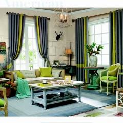英阁来窗帘 现代撞色窗帘 成品定制均可 定金