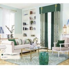 英阁来窗帘   绿色窗帘 清新风格   成品定制均可 定金