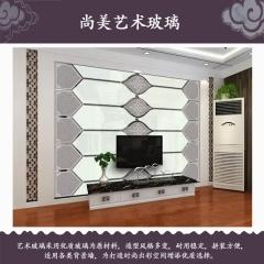 尚美艺术玻璃现代简约背景墙 定金
